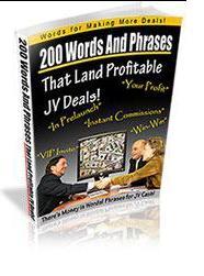 200wordsandphrasesthatlandprofitablejvdeals